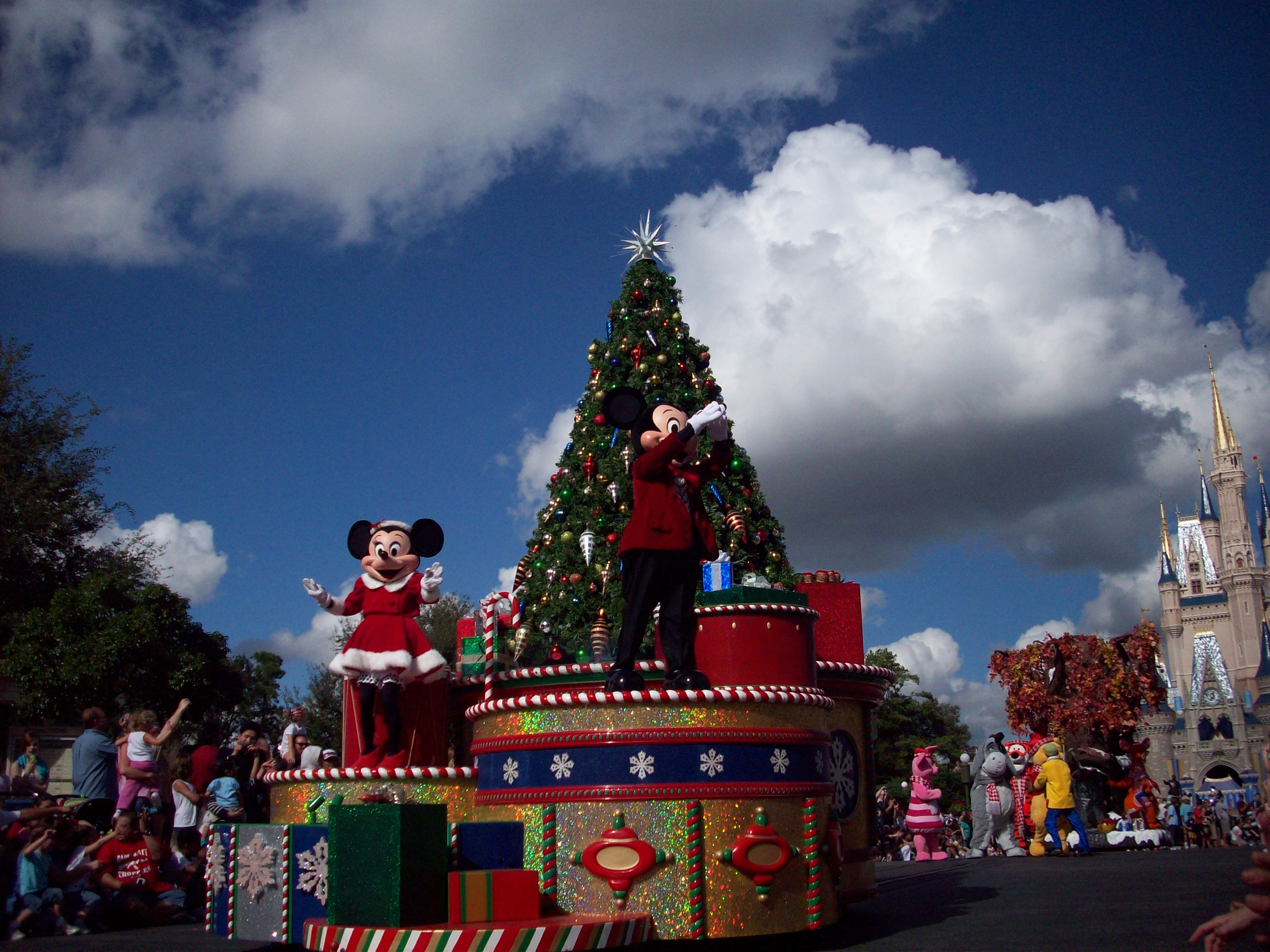 Disney World at Christmas Time