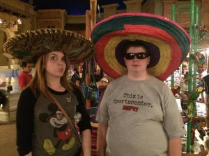 Me and my brother enjoying the Mexico pavilion at EPCOT