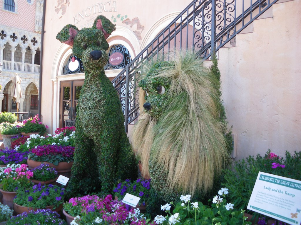 wordless wednesday: epcot flower and garden festival is thinking